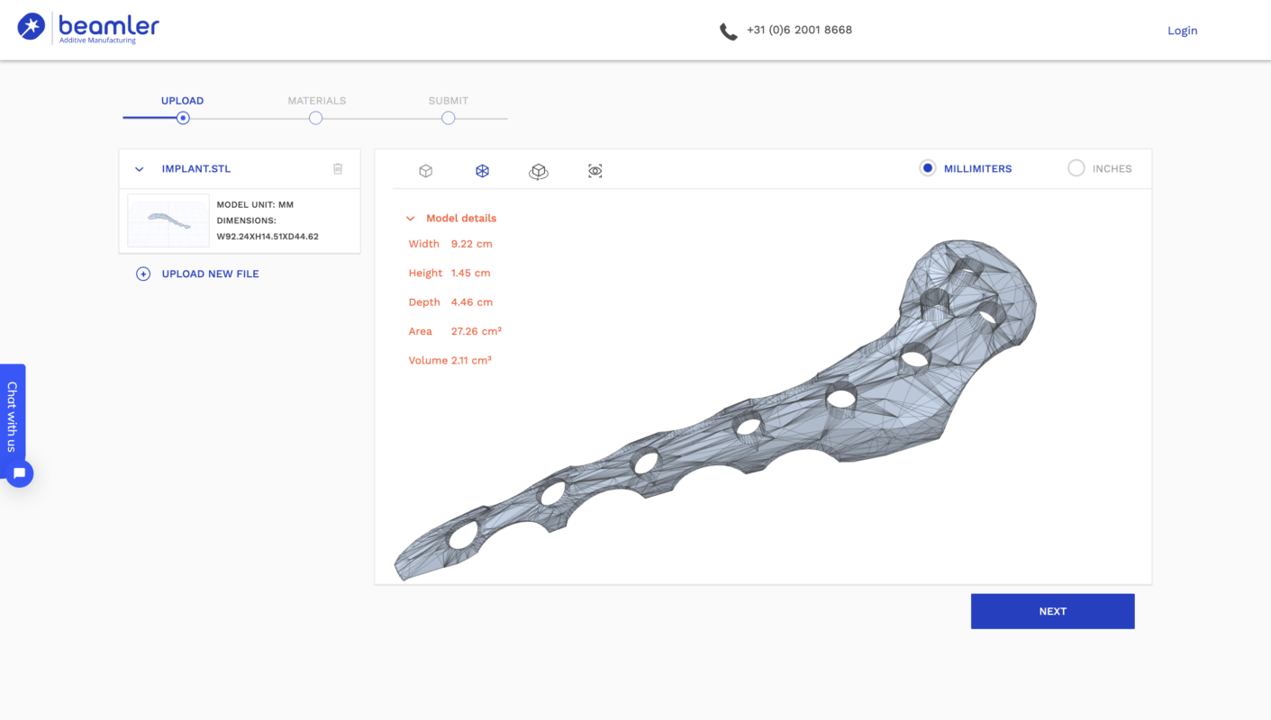 Beamler 3D print service